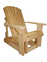 Click to enlarge image Adirondack Glider 20`` Seat Width - Glide your day away