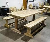 Click to enlarge image Trestle Style Picnic Table -