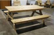 Click to enlarge image A-Style Picnic Table -